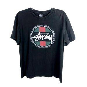 STUSSY Reggae Rasta Vintage T-Shirt Small/Med